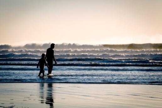 Ludzie na plaży